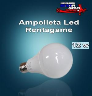 ampolleta led  rentagame 12 watt/e27/uso interior